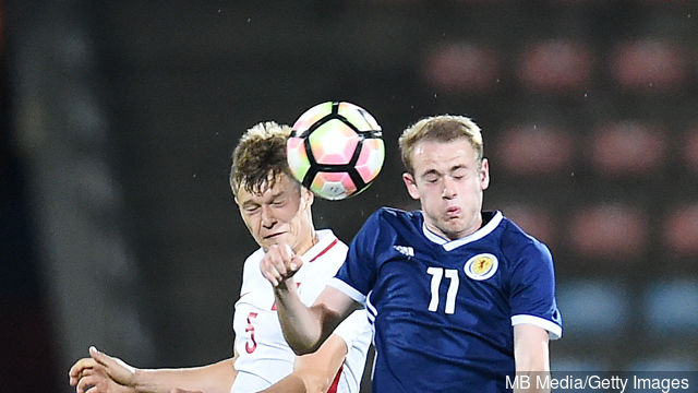Rudden in action for Scotland