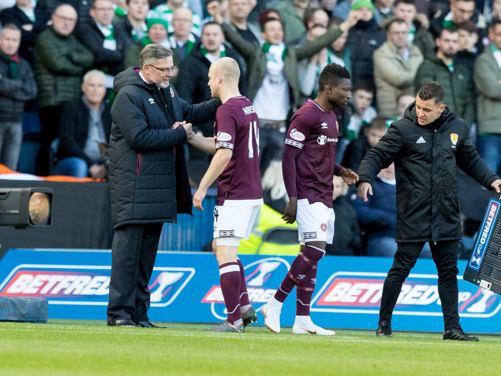 Every player supports Hearts' manager says 49 cap international