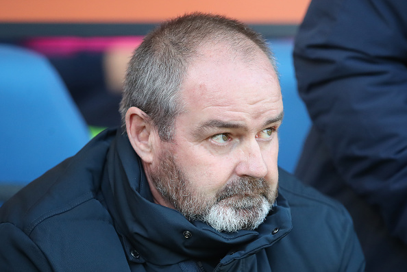 KILMARNOCK, SCOTLAND - OCTOBER 27: Kilmarnock manager Steve Clarke looks on during the Scottish Ladbrokes Premiership match between Kilmarnock and Hamilton at Rugby Park on October 27, 2018 in Kilmarnock, United Kingdom.