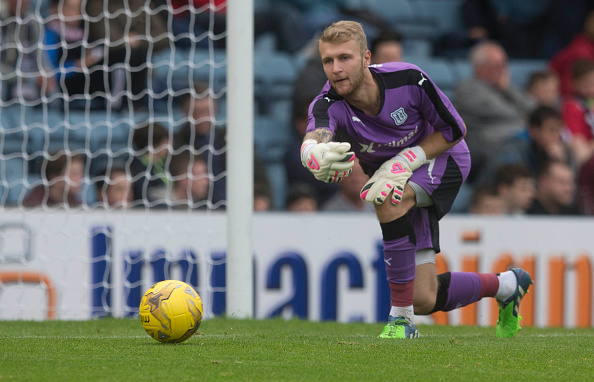 DUNDEE, SCOTLAND - JULY 28: Scott Bain for Dundee at the Pre Season Friendly between Dundee and Everton at Dens Park on July 28th, 2015 in Dundee, Scotland.