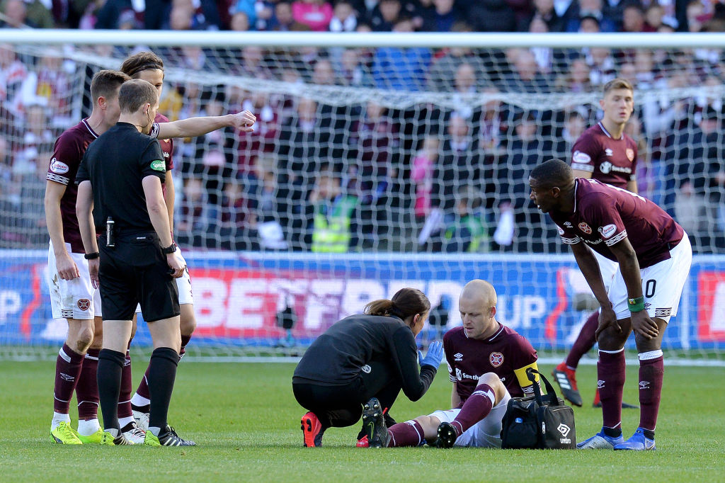 Hearts goal stat could have been broken by Nasimith had not gotten injured.