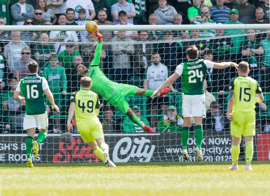 Hibs' star keeper shows his class again in weekend match