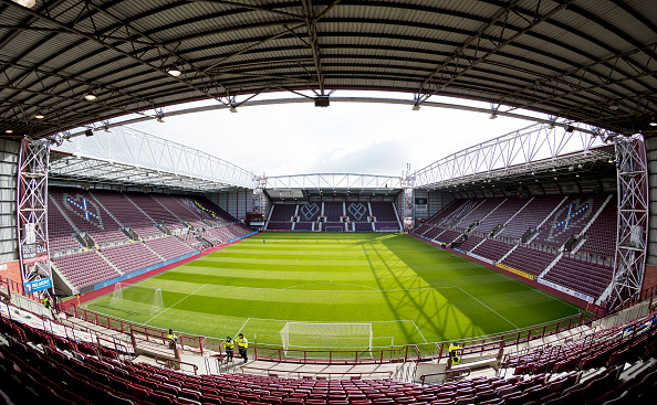 17th March 2018, Tynecastle Park, Edinburgh, Scotland; Scottish Premier League football, Heart of Midlothian versus Partick Thistle; General View of Tynecastle Park before kick off