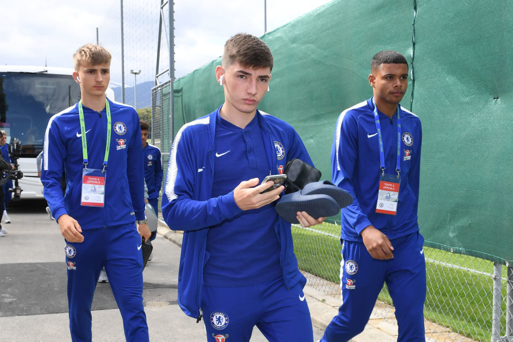 How did Chelsea kid get on during youth international?
