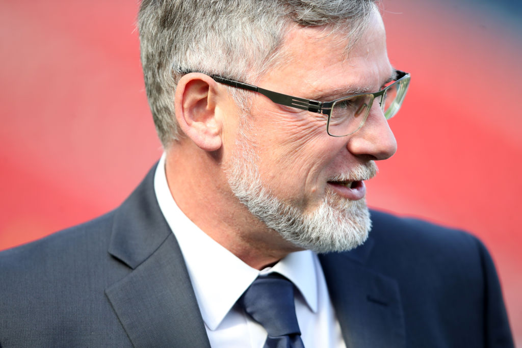 GLASGOW, SCOTLAND - APRIL 13: Craig Levein, Manager of Hearts looks on prior to the Scottish Cup Semi Final match between Heart of Midlothian and Inverness Caledonian Thistle at Hampden Park on April 13, 2019 in Glasgow, Scotland.