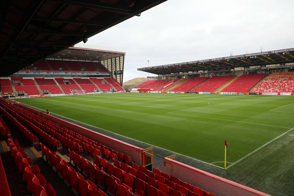 ABERDEEN, SCOTLAND - JULY 20: A general view of Pittodrie Stadium the home of Aberdeen prior to the Pre-Season Friendly between Aberdeen and West Bromwich Albion at Pittodrie Stadium on July 20, 2018 in Aberdeen, Scotland.