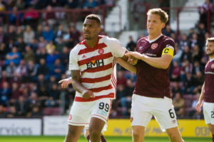 Hearts host Hamilton this afternoon.