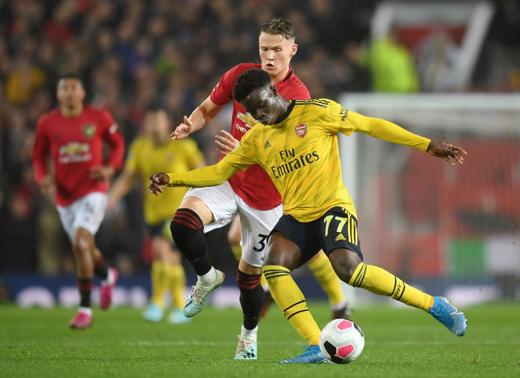McTominay netted his first Old Trafford goal for Manchester United goal Arsenal.