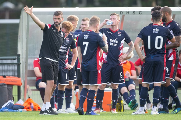 Coach Steven Ferguson of Ross County during the friendly match between FC Utrecht and Ross County at Sportpark Thorbecke on July 06, 2018 in Utrecht, The Netherland