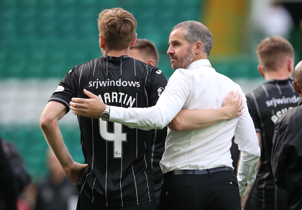 Dunfermline manager hails players after bouncing back from cup shock