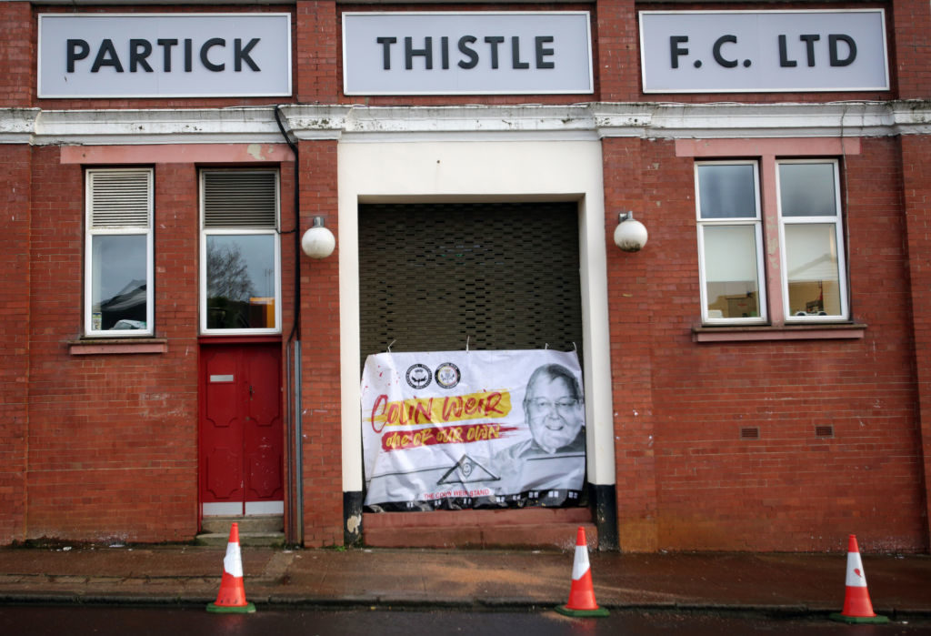 Funeral tribute for lifelong Partick Thistle fan as cortege passes Firhill