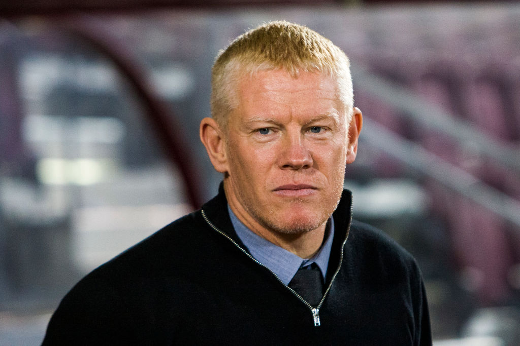 Livingston manager Gary Holt during the Scottish Premier League match between Hearts and Livingston at Tynecastle park on 04 December, 2019 in Edinburgh, Scotland.