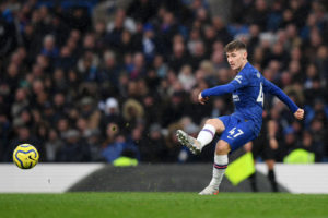 Billy Gilmour in Blues action