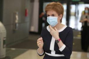 First Minister Nicola Sturgeon Visits The NHS Louisa Jordan