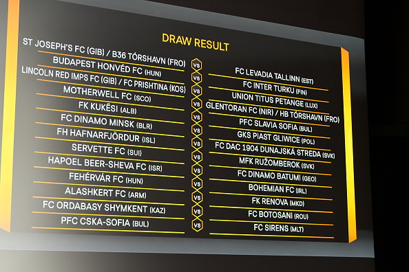 UEFA Europa League 2020/21 First Qualifying Round Draw