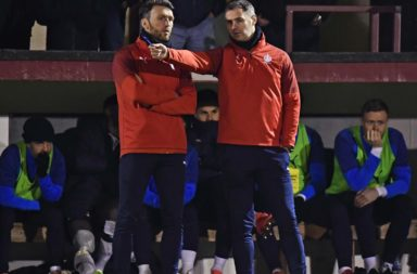 Falkirk co-managers Lee Miller and David McCracken