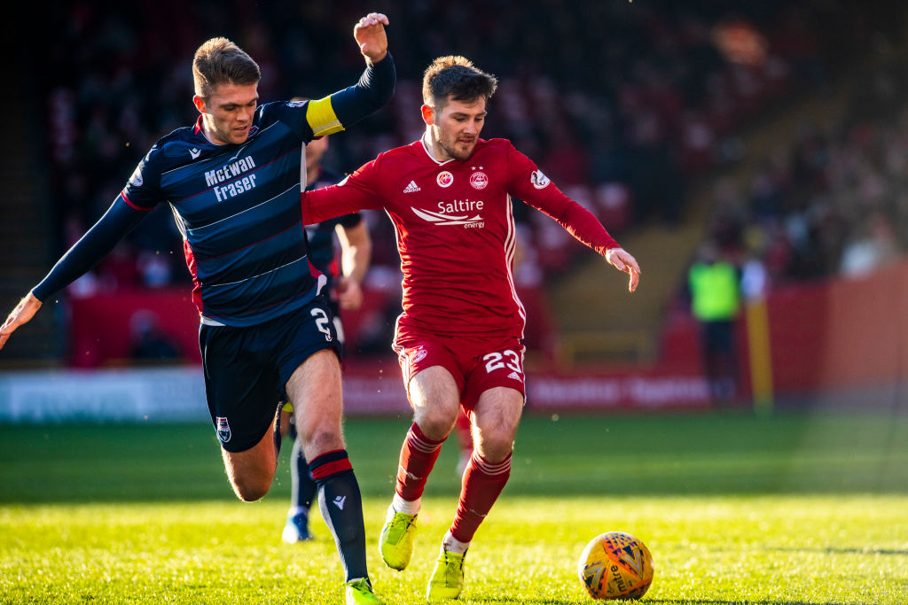 Aberdeen in action against Ross County