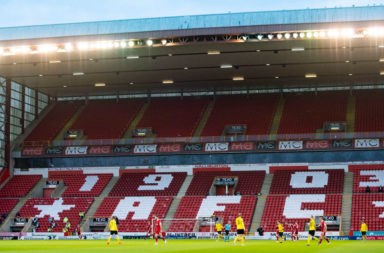 Pittodrie stands empty