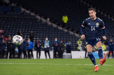 Kenny McLean scores for Scotland against Israel