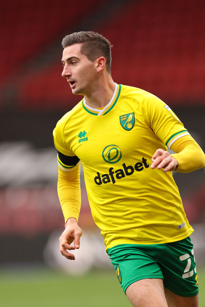Kenny McLean in action for Norwich City