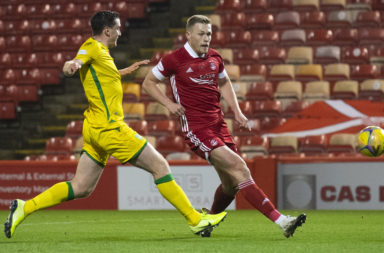 Aberdeen in action at Pittodrie