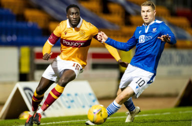 St Johnstone and Motherwell in Scottish Premiership action