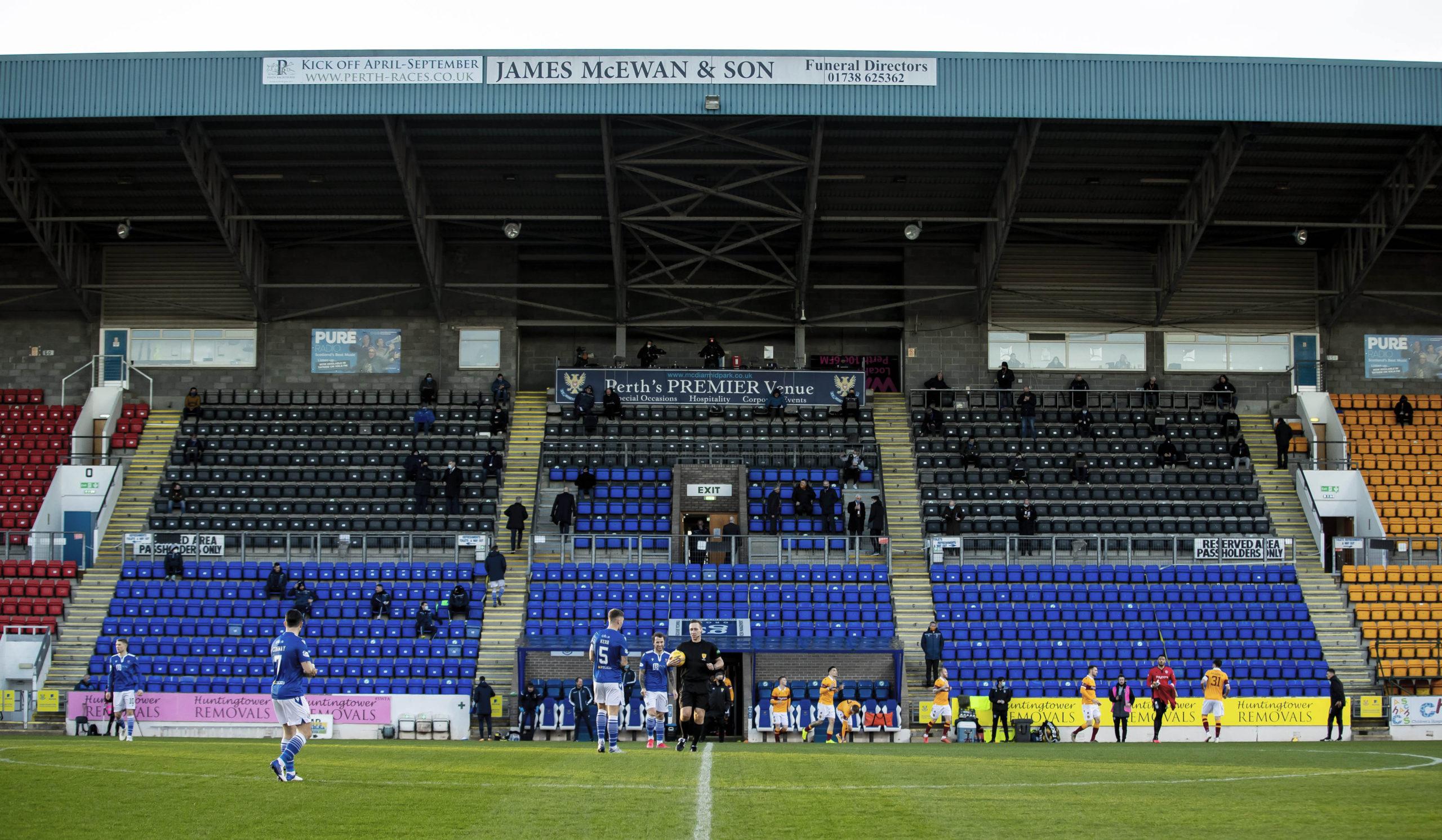 St Johnstone vs Motherwell had no fans