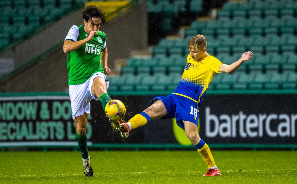 Ali McCann in action for St Johnstone