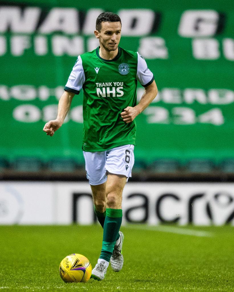 Paul McGinn in action for Hibernian