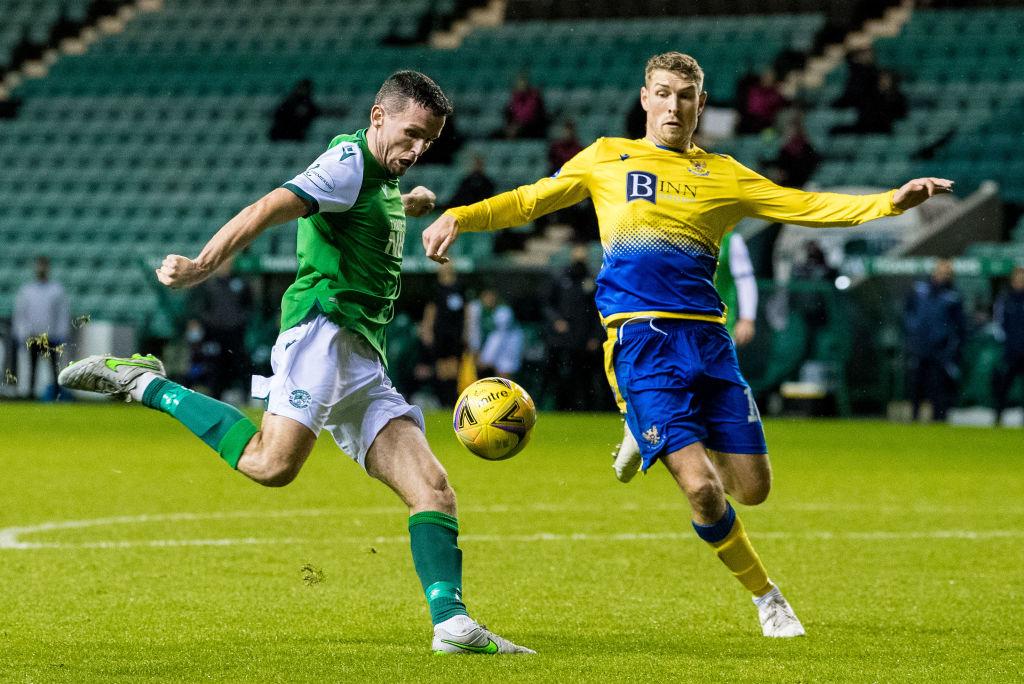 Paul McGinn scores against St Johnstone