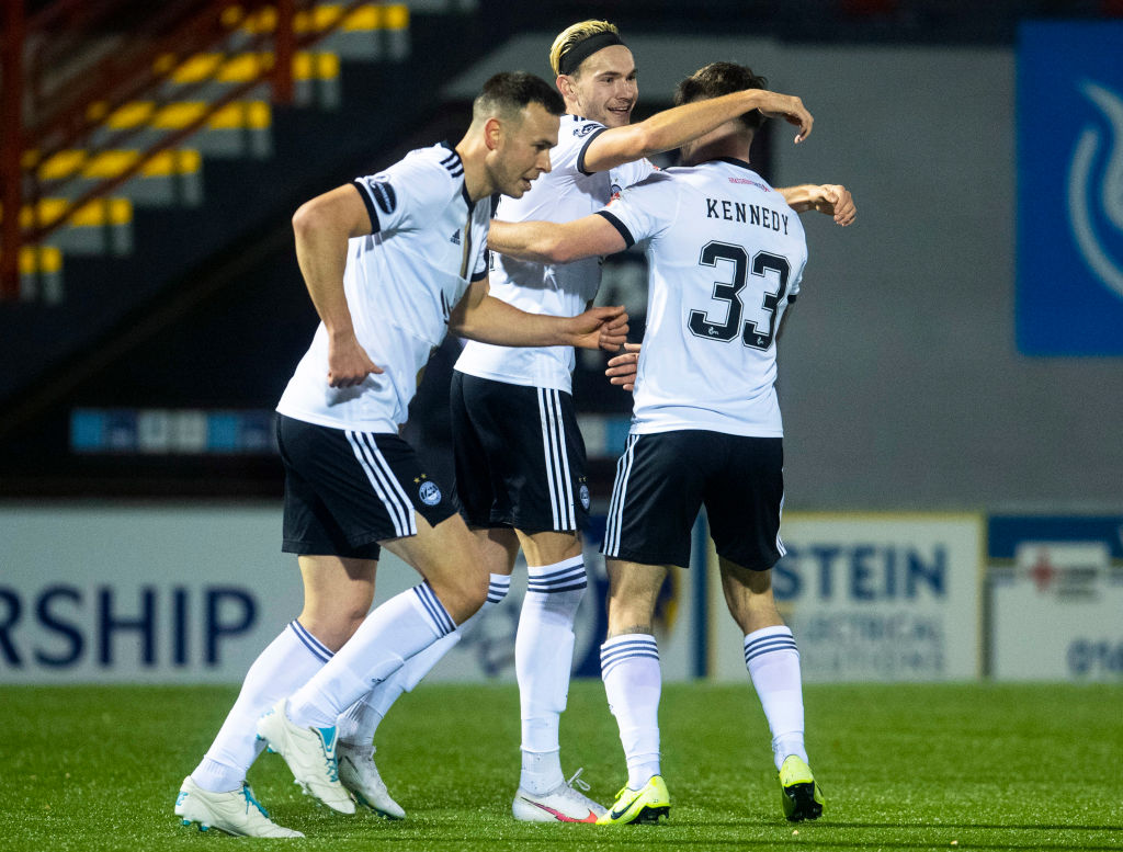 Ryan Hedges after scoring for Aberdeen