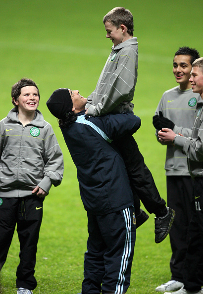 Soccer - Argentina Training in Glasgow - Diego Maradona