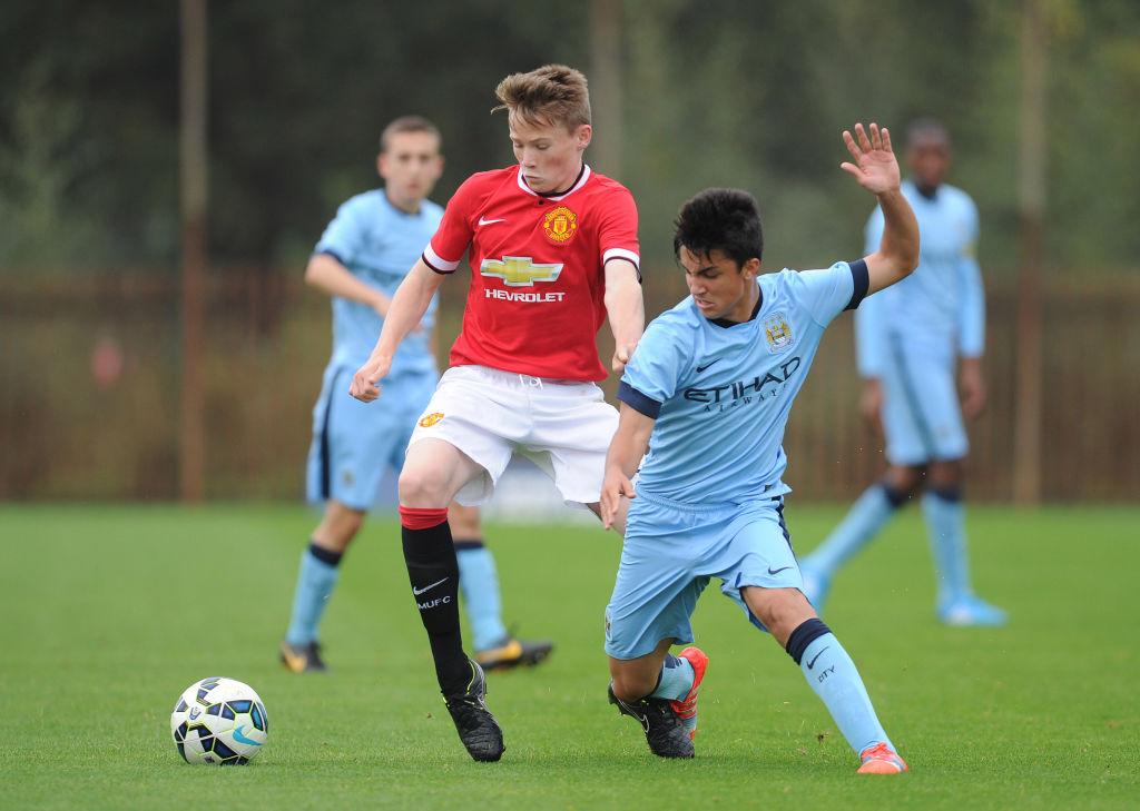 Soccer - Barclays Premier Academy League - Manchester City U18 v Manchester United U18 - Platt Lane