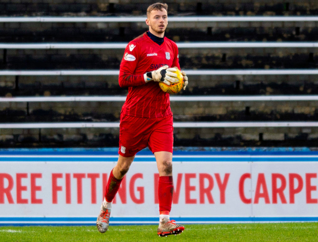 Conor Hazard in action for Dundee