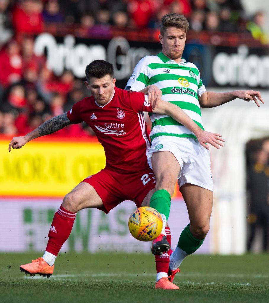 Matty Kennedy in action for Aberdeen