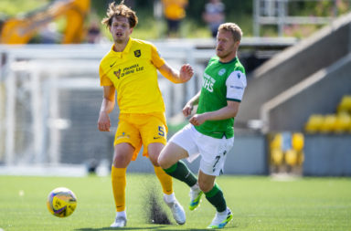 Jack Fitzwater in action for Livingston
