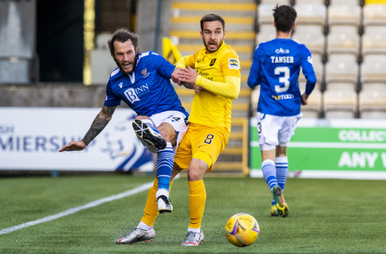 Stevie May in action for St Johnstone