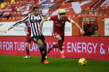 Ethan Erhahon in action for St Mirren