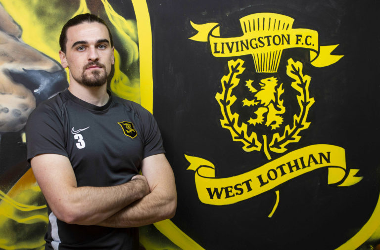 Livingston defender Ciaron Brown