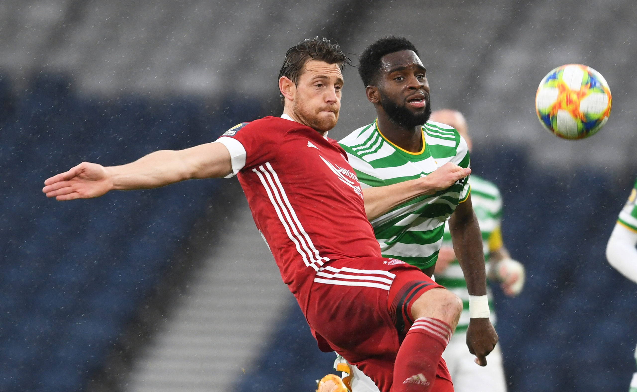 Ash Taylor in action for Aberdeen