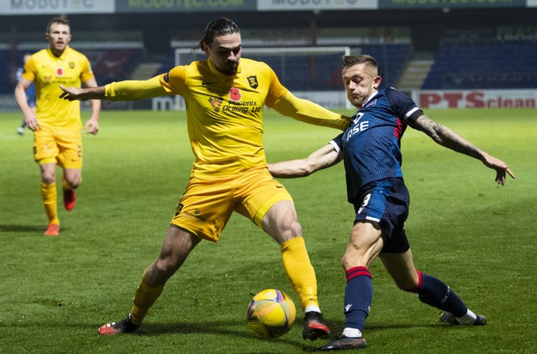 Charlie Lakin in action for Ross County