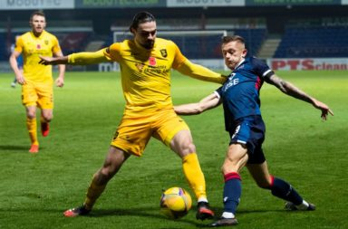 Ciaron Brown in action against Ross County