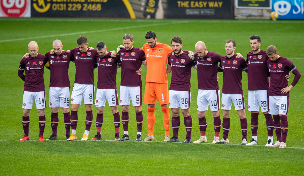 Hearts will pay tribute to Zaliukas against Celtic this weekend.