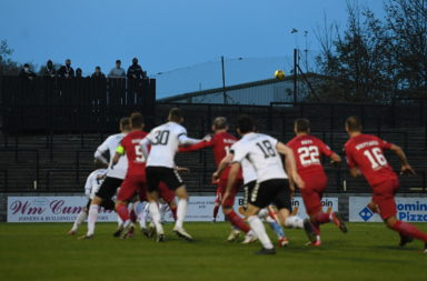 Ayr United in action against Dunfermline