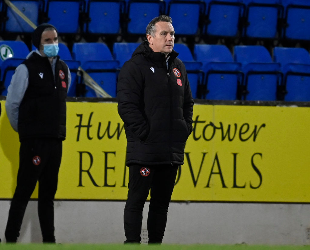 Dundee United manager Micky Mellon is self-isloating