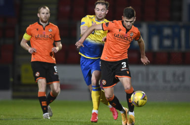 Dundee United in action against St Johnstone