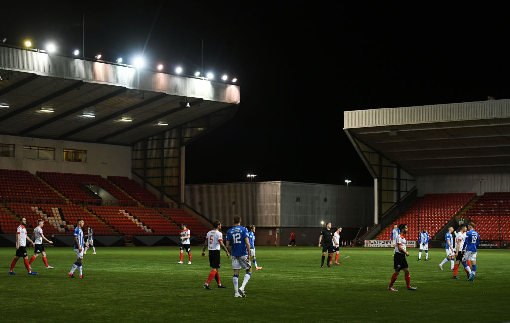 Clyde in action at Broadwood stadium
