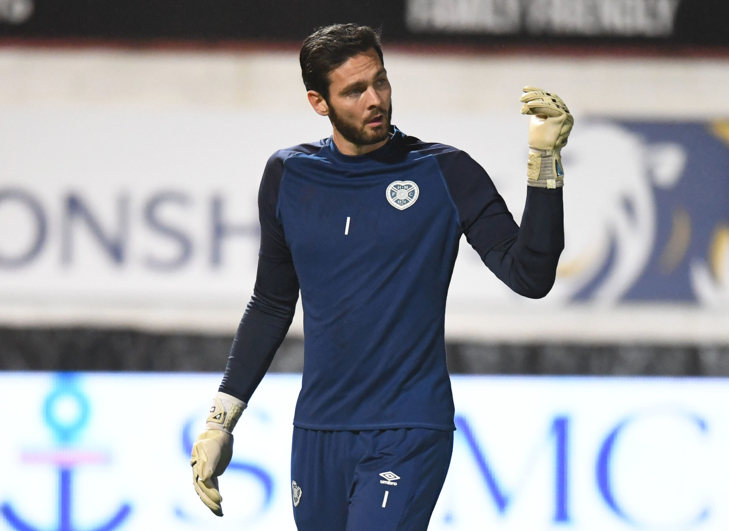 Hearts goalkeeper Craig Gordon