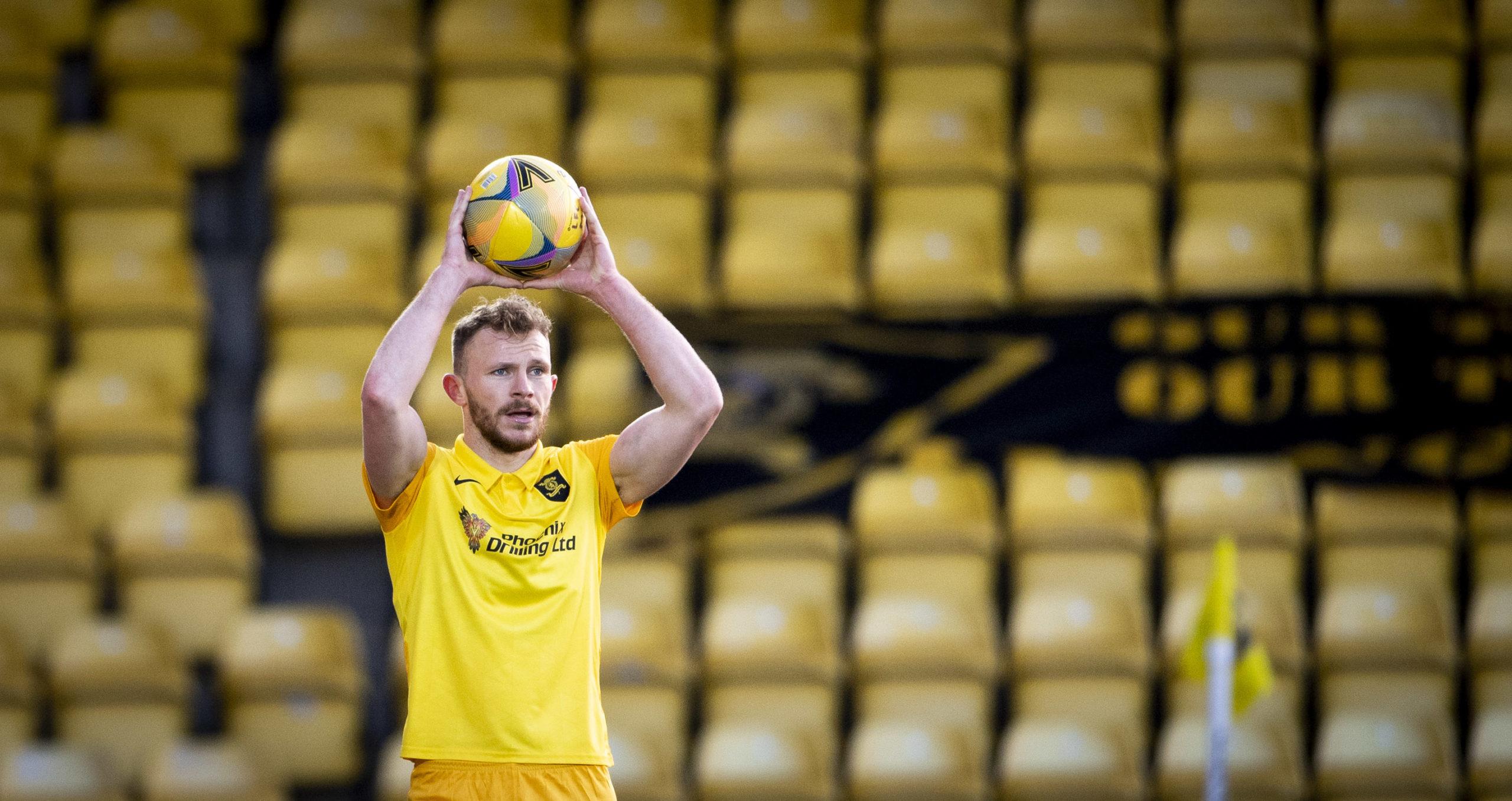 Nicky Devlin in action for Livingston
