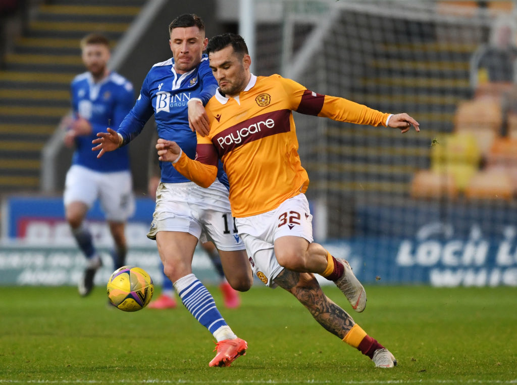 Michael O'Halloran in action against Motherwell
